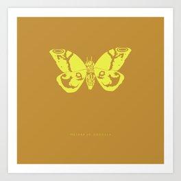We Must Learn to Help Each Other -Mothra vs. Godzilla Art Print
