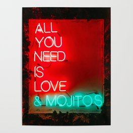 Love and mojitos Poster