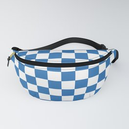 Gingham Azure Strong Blue Checked Pattern Fanny Pack