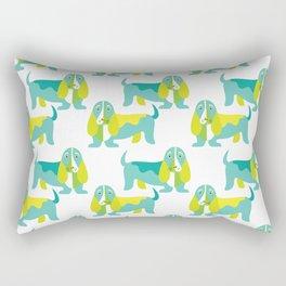 Bertie Basset pattern Rectangular Pillow