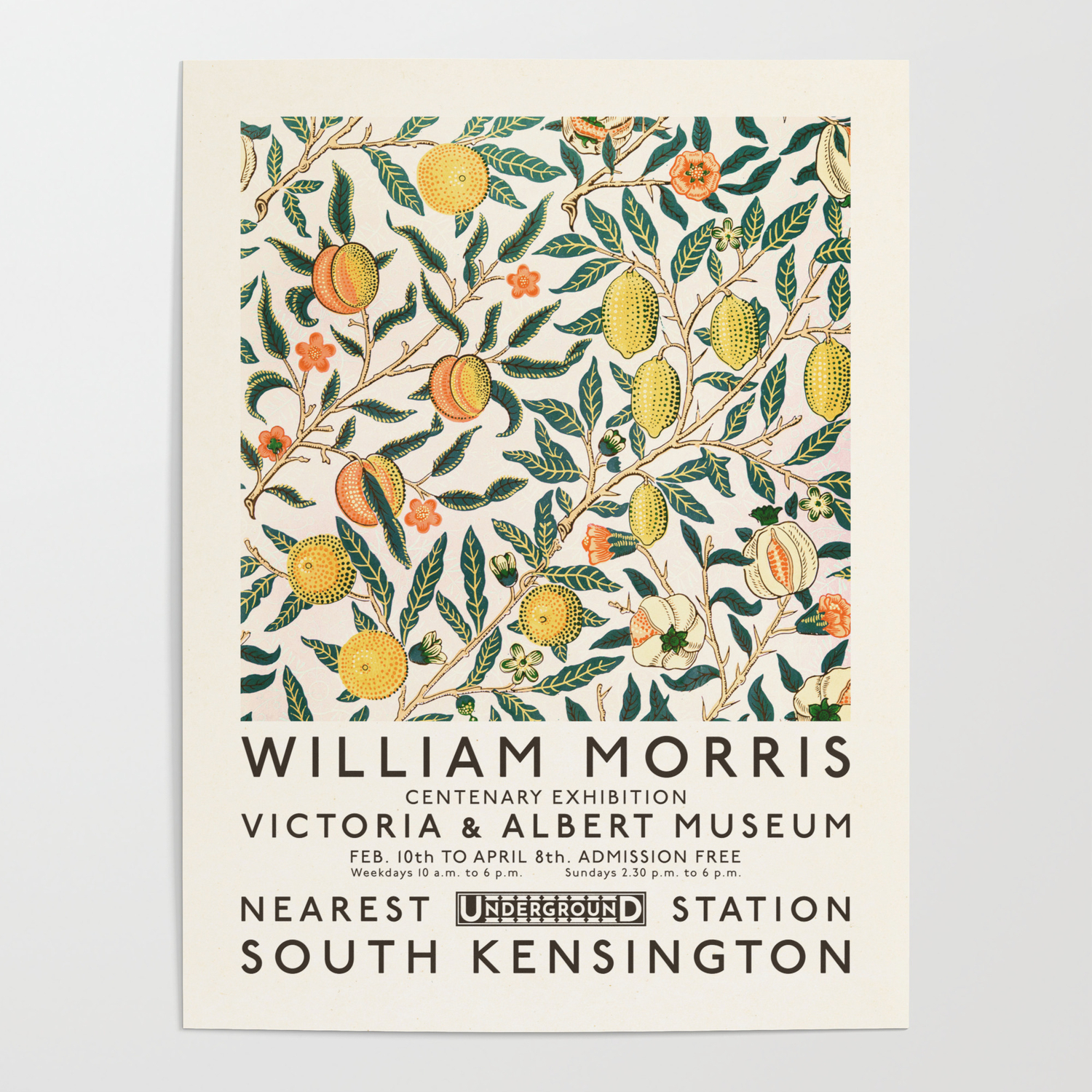 William Morris Art Exhibition Poster By Solarprint Society6