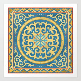 Kazakh national ornament Art Print
