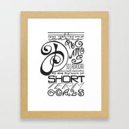 Short Term Goals Framed Art Print