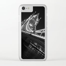 Tower Bridge at Night Clear iPhone Case
