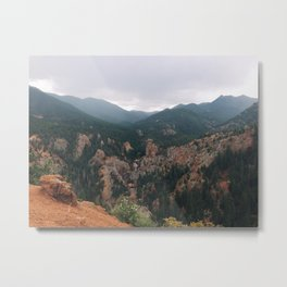 Foggy Rocky Mountains Metal Print