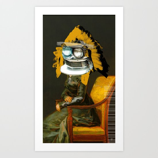 I´m in love with my car Art Print