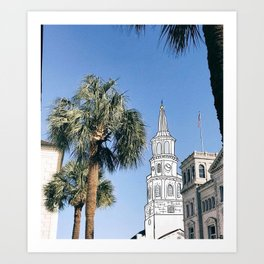 Charleston Steeple Market St Art Print