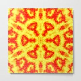 Fire Kaleidoscope 1 Metal Print