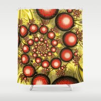 chinese Shower Curtains featuring Chinese Balls by Alice Gosling