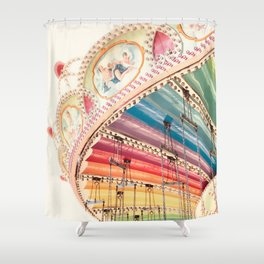 Flying Carousel 1 - Six Flags America Shower Curtain