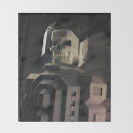 Necronaut low-polygon 3D artwork Throw Blanket