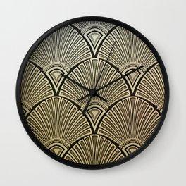 Golden Art Deco pattern Wall Clock