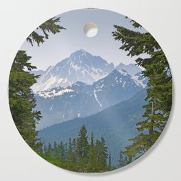 MOUNT LARRABEE FROM HEATHER MEADOWS Cutting Board