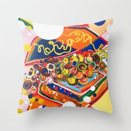 Happy Meal Throw Pillow