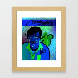 Candy Colored Frown Framed Art Print