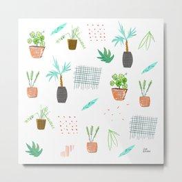 Botanica Pattern Metal Print