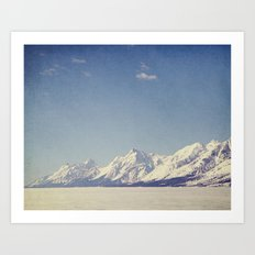 Grand Tetons Streching Out Art Print
