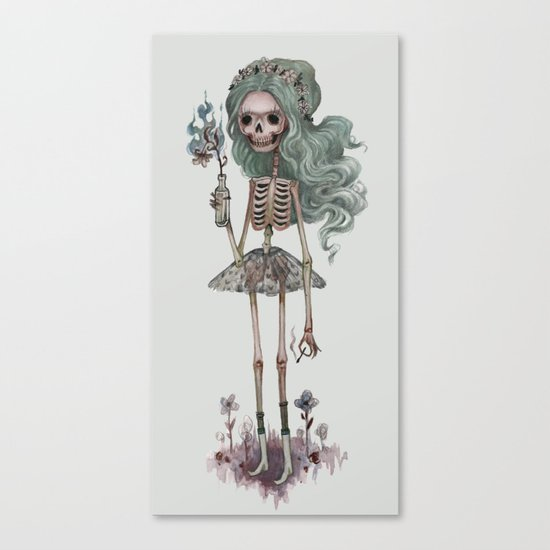 Grim Girlfriend Canvas Print