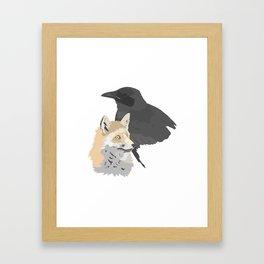 Le corbeau et le renard Framed Art Print