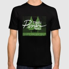 Twin Pines Mall MEDIUM Black Mens Fitted Tee