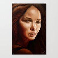 jennifer lawrence Canvas Prints featuring Jennifer Lawrence by The Art of Vancuf