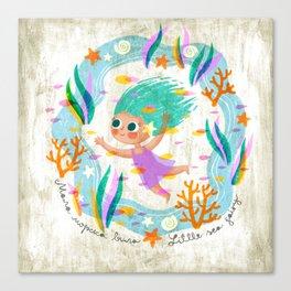 Little Sea Fairy Canvas Print