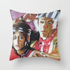 MARTY AND THE DOC Throw Pillow