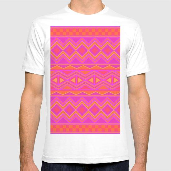 Tribal Pattern (Pink & Orange) T-shirt