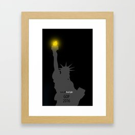 GOP 2016 Framed Art Print