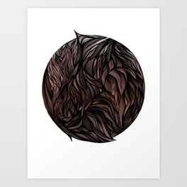 Fur Ball Art Print