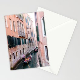 Venice Gondola Rides in Pink Stationery Cards