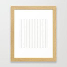 Creamy Tofu White Mattress Ticking Wide Striped Pattern - Fall Fashion 2018 Framed Art Print