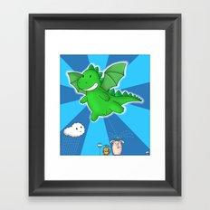 Godzilla rains first! Framed Art Print