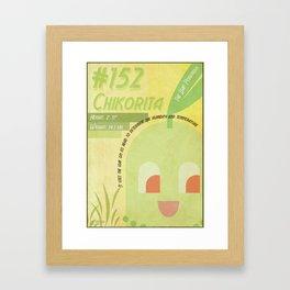 Chikorita Framed Art Print