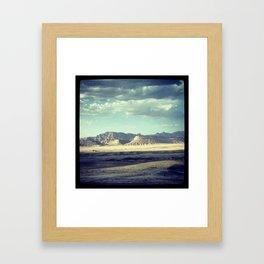 Denver to SLC Framed Art Print
