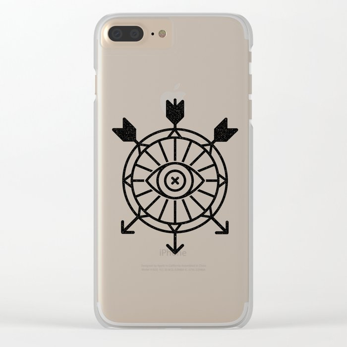 shield of arrows Clear iPhone Case