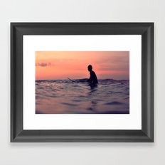 Surfing Cocoa Beach FL Framed Art Print