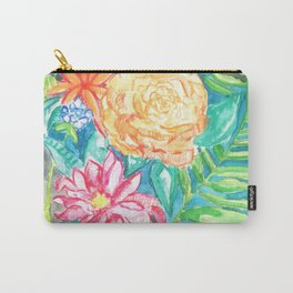 Floral watercolor Carry-All Pouch