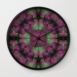 Purple , green, ornament Wall Clock