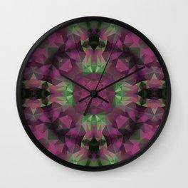 Purple , green, ornament Wall Clock