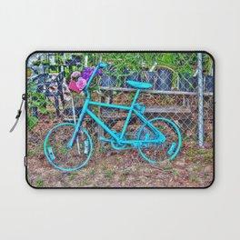 Turquoise Bicycle Laptop Sleeve
