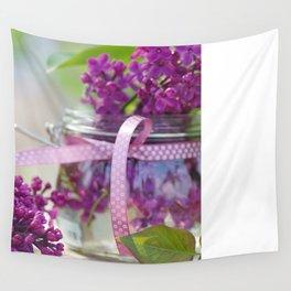 Lilac Spring Still life Wall Tapestry
