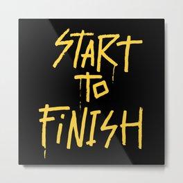 Start To Finish Metal Print