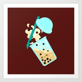 Extreme Bubble Tea Making Art Print
