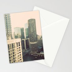 Chicago River Marina Tower Color Photo Stationery Cards