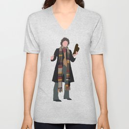 Fourth Doctor: Tom Baker Unisex V-Neck