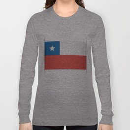 Flag of Chile.  The slit in the paper with shadows. Long Sleeve T-shirt