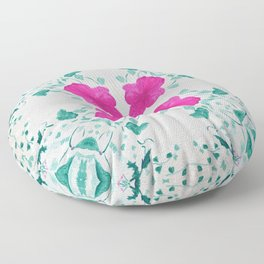 Pink vintage square Floor Pillow