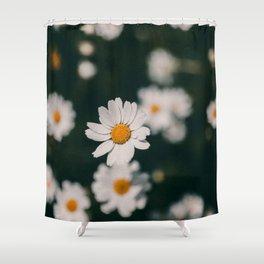 The Dark Daisy Shower Curtain