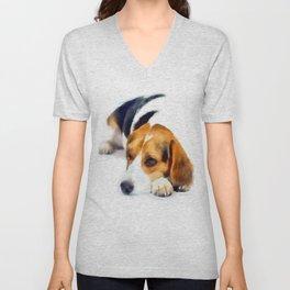 Beagle Bailey Unisex V-Neck
